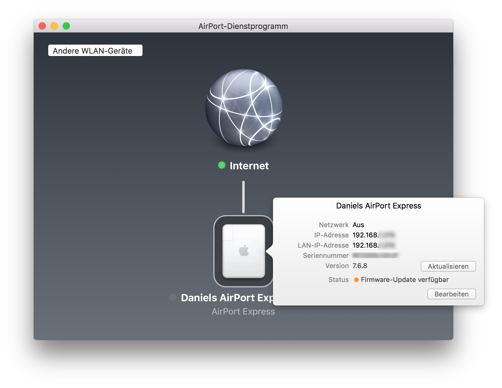 Apple AirPort Express Software Version 7.6.8