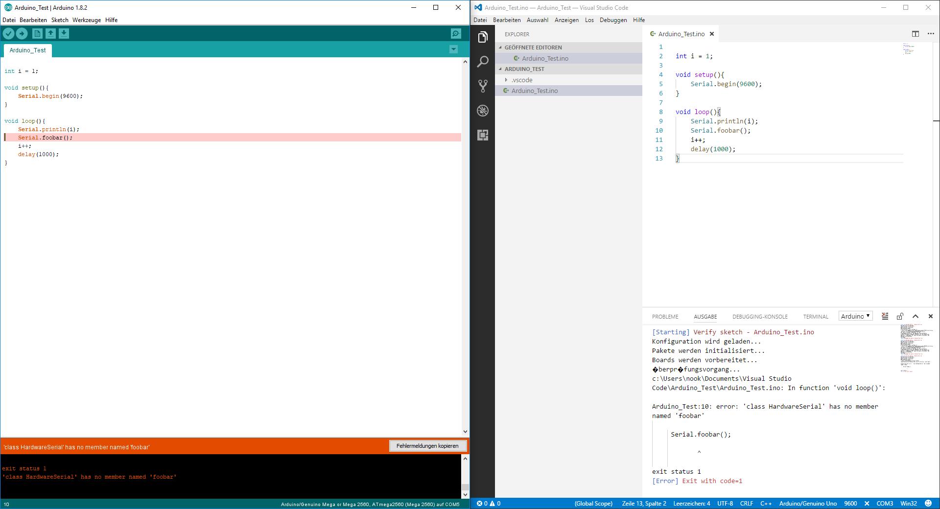 Arduino mit microsoft visual studio code programmieren