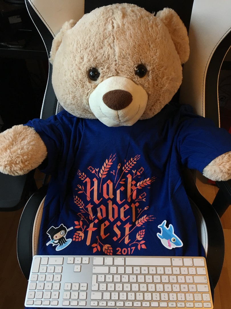 Hacktoberfest Shirt Teddy Bear