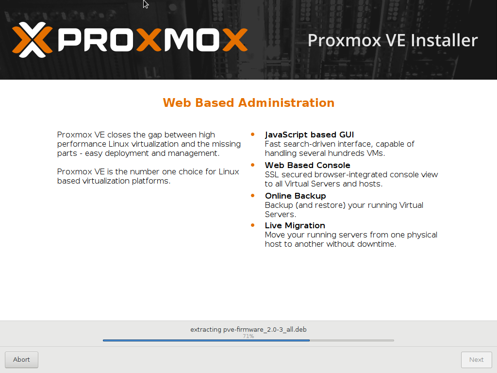 Proxmox Virtual Environment: Installation