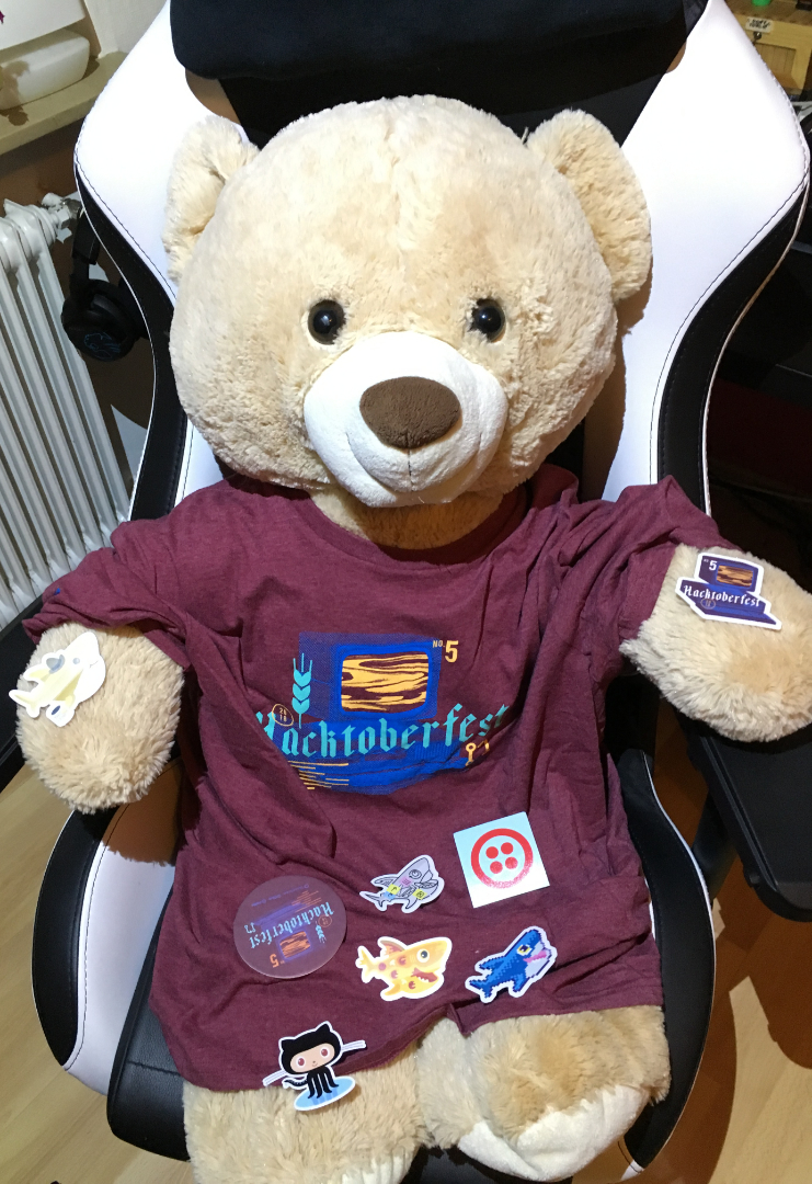 Hacktoberfest 2018 Shirt Teddy Bear