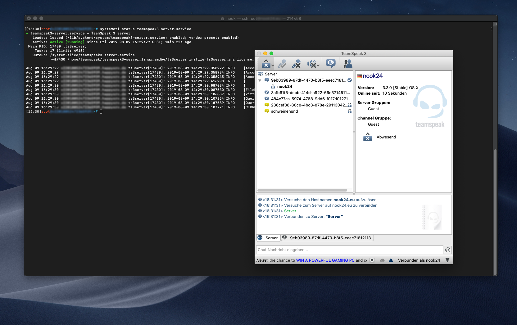 TeamSpeak 3 Server Update Linux 2019
